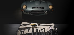 originele toolkit van de Jaguar E-type